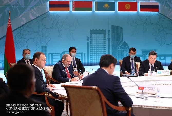 Նիկոլ Փաշինյանը մասնակցում է ԵԱՏՄ միջկառավարական խորհրդի նիստին