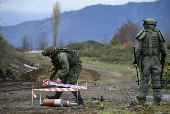 Российскими миротворцами в Карабахе от неразорвавшихся боеприпасов очищено в  целом 859,3 га