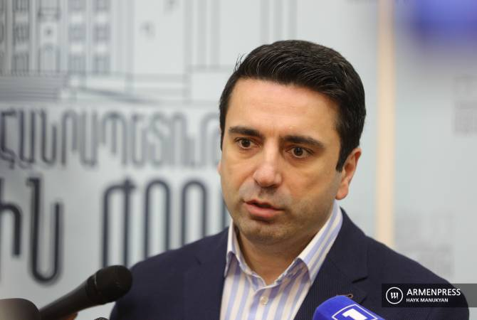 Vice Speaker of Parliament Alen Simonyan's news briefing