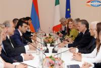 High level Armenian-Italian meeting takes place at Presidential Palace