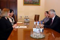 Armenian deputy PM holds meeting with UK Ambassador