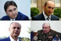 Preliminary investigation into Robert Kocharyan's and 3 other former top officials' cases over- 