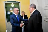 Armenian, Albanian presidents note 'untapped potential' in relations