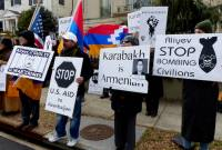 Greater Washington DC community members join Armenian Youth Federation protesting outside 