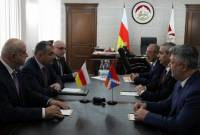 Artsakh's FM, President of South Ossetia discuss issues of implementation of joint projects