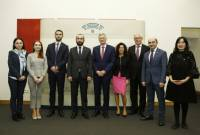 Armenia's delegation led by Speaker of Parliament had meetings in parliament and university of 