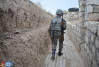 Azerbaijani military breaches Artsakh ceasefire 180 times in one week