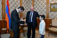 Armenian schoolkid's dream comes true as PRESIDENT personally arranges meeting with 
