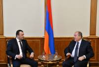 President Sarkissian holds meeting with Prosperous Armenia party's deputy chair Vahe Enfiajyan