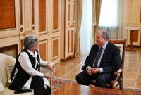 President Sarkissian meets with director of A.I. Alikhanyan National Science 