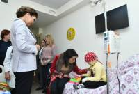 Armenian PM's spouse, Kazakh Senate Speaker visit children suffering cancer in Yerevan