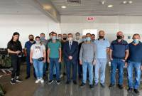 Armenian peace-keeping unit departs for Kosovo