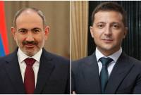 Pashinyan congratulates Ukraine's Zelensky on Independence Day