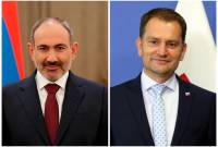 Armenian PM congratulates Slovakian counterpart on Constitution Day