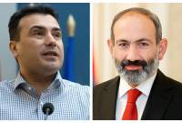 PM Pashinyan felicitates North Macedonian Prime Minister on Independence Day