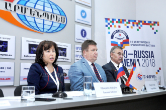 Press conference dedicated to Russia-Armenia Expo 2018