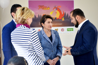 First Lady Nune Sarkissian attends presentation of new 