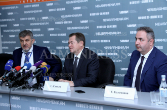 Press conference of Russian presidential advisor Sergei Glazyev 
