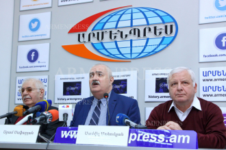 Press conference of Aram Safaryan, Gagik Harutyunyan and 