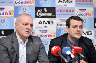 Press conference of analyst Vigen Hakobyan and media expert 