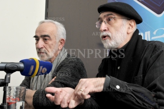 Press conference of actor Vigen Stepanyan and musician Vahan 