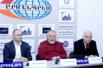 News conference of Norayr Nazaryan, Robert Mlkeyan and 