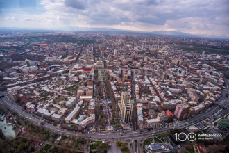 Bird's-eye view of Yerevan