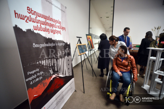 "Opening of exhibition titled ""Genocide in the Eyes of People 