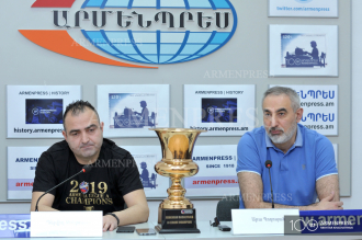 News conference of Ara Poghosyan and David Jontoyan