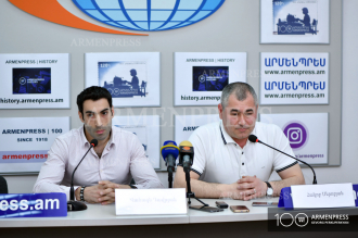Press conference of National Gymnastics Team coach Hakob 