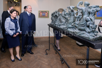 President Armen Sarkissian and First Lady Nune Sarkissian visit 