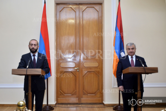 Speakers of Parliament of Armenia and Artsakh deliver joint 