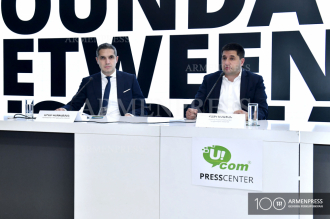News conference of Ucom CEO Hayk Yesayan and Armenbrok 
