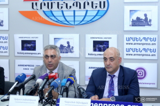 Defense Ministry spokesperson Artsrun Hovhannisyan and 