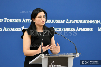Foreign ministry spokesperson Anna Naghdalyan's press 