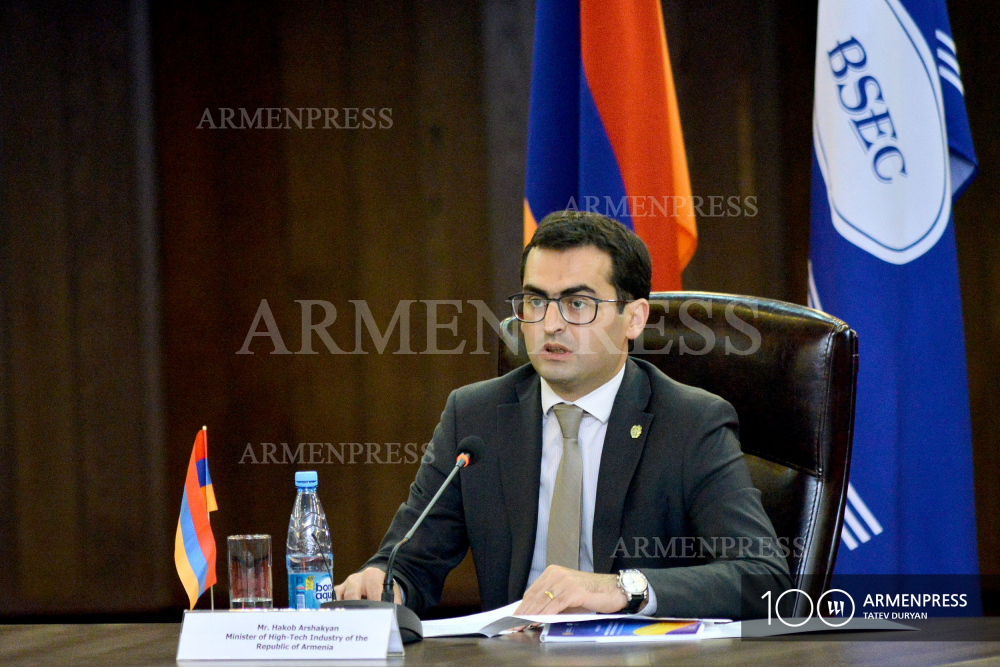 Armenian High Tech Industry Minister Hakob Arshakyan's press conference