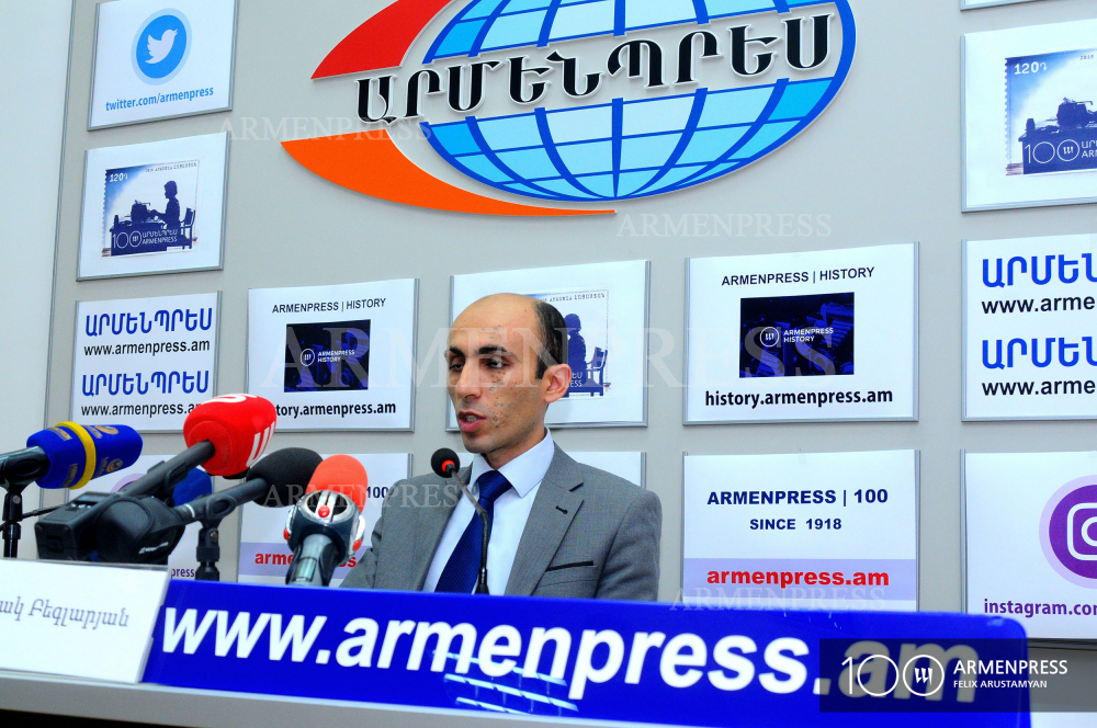 Artsakh's Human Rights Defender Artak Beglaryan's press conference