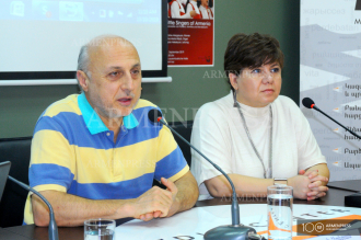 News conference on Little Singers of Armenia tour