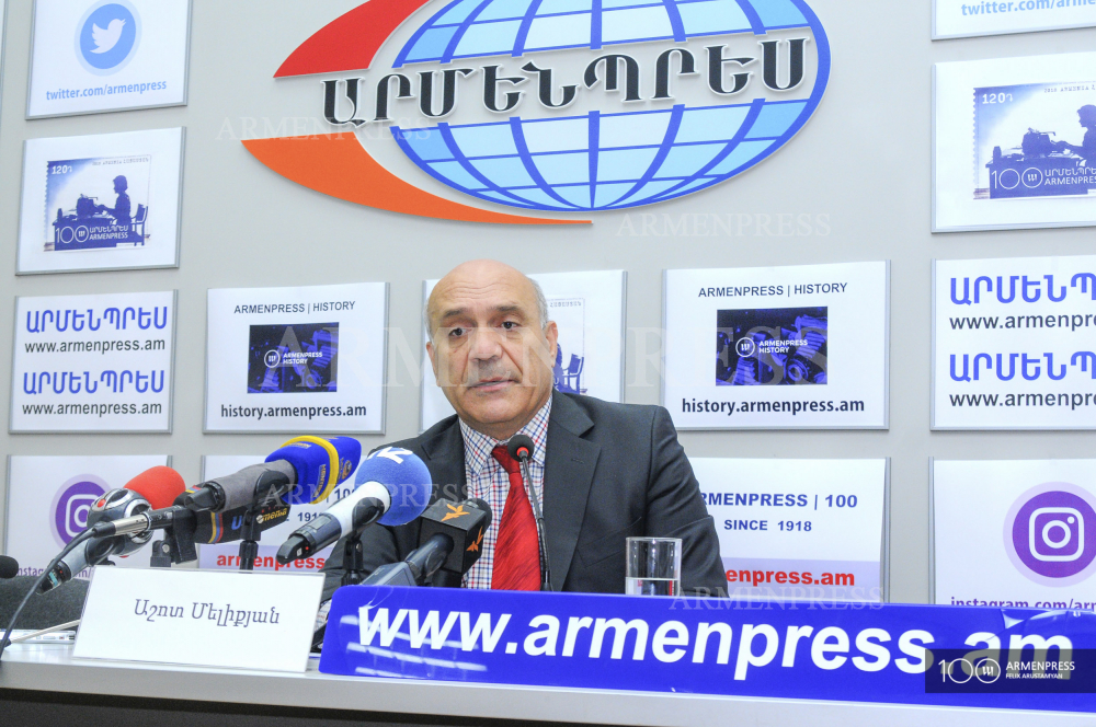 Freedom of Speech Protection Committee Chair Ashot Melikyan's press conference