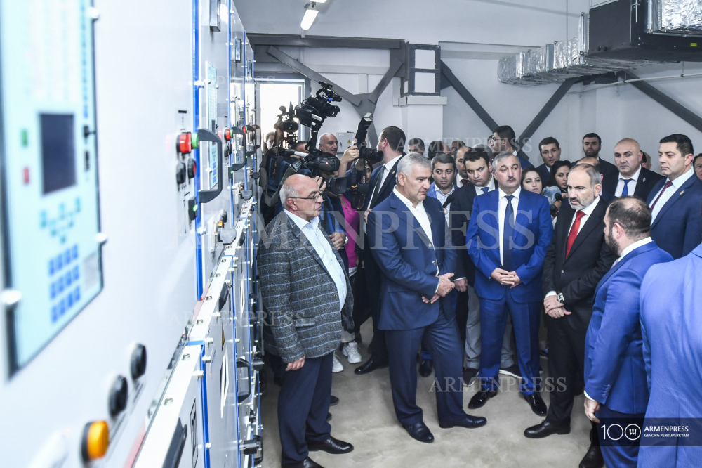PM Pashinyan takes part in inauguration of new power substation