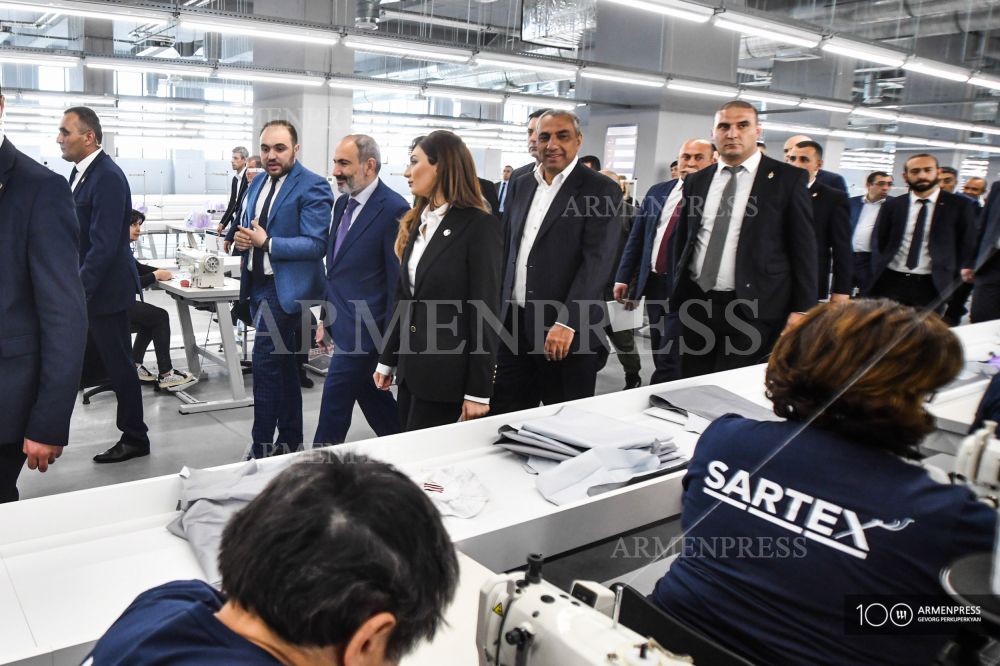PM Pashinyan attends inauguration of ASA Garment plant
