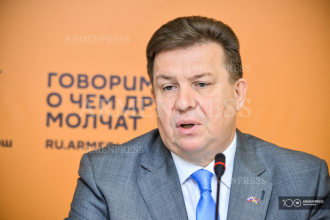 Press conference of Russia's Trade Representative to Armenia 