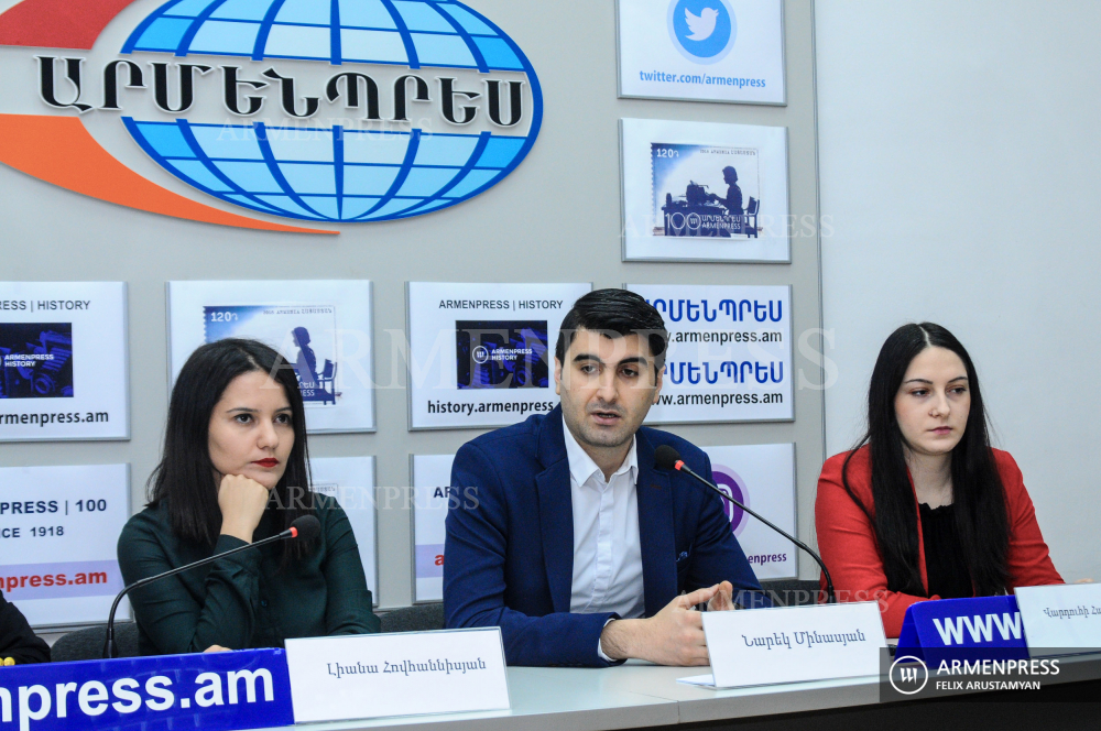 Political analysts deliver news conference on Armenia's foreign policy in 2019