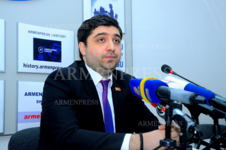 Press conference of ruling My Step faction MP Vagharshak 