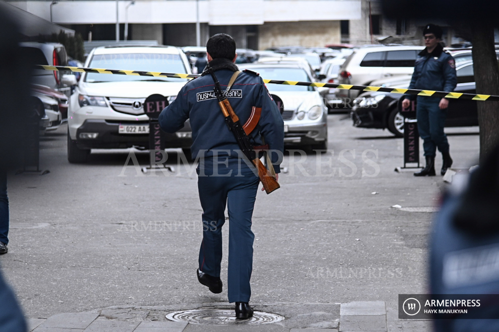 Gunman opens fire at Erebuni Business Center in Yerevan