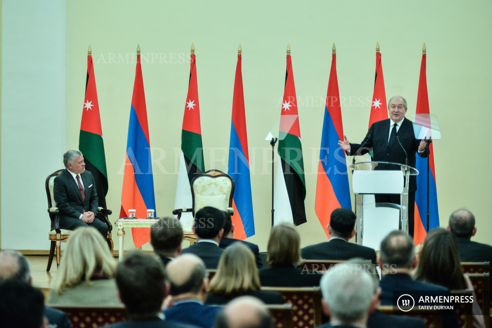 President Sarkissian and King Abdullah II of Jordan deliver remarks on Religion and Tolerance