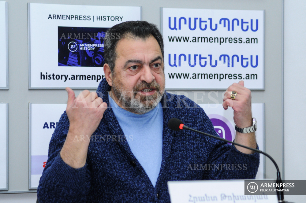 Actor Hrant Tokhatyan's news conference on plans to open new theater and acting school