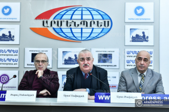 Press conference on Armenian economy during presidency in 