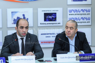 News conference of Arsen Julfalakyan and Levon Julfalakyan