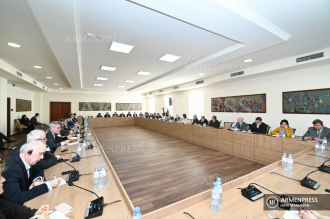 Healthcare Minister Arsen Torosyan meets with ambassadors 